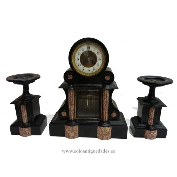 Antique Marble table clock with garnish