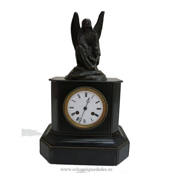 Antique Table clock figure TH.Cechter