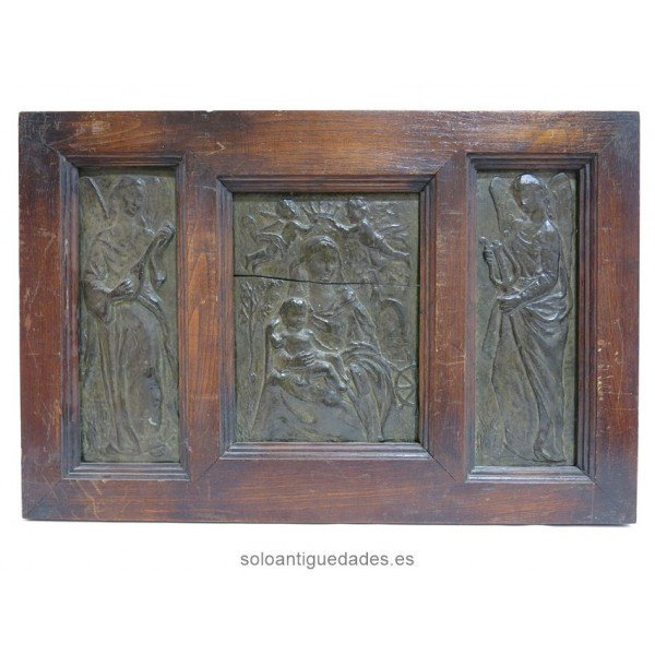 Antique Terracotta Triptych