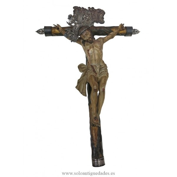 Crucifix very fragile Andalusian Baroque school
