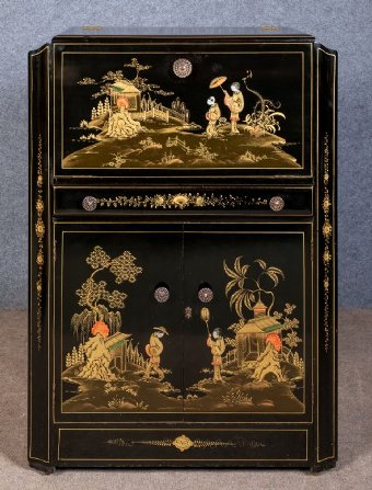Antique Chinoiserie Cocktail Cabinet