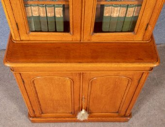 Antique Good Quality Victorian Oak Bookcase