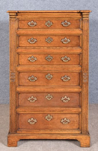 Jacobean Style Solid Oak Chest of Drawers