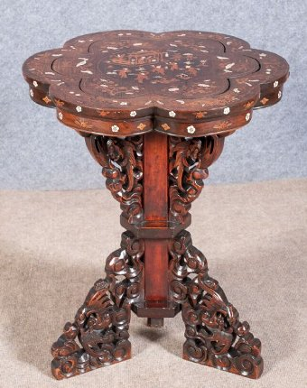 Good Chinese Hardwood and Inlaid Table
