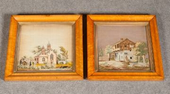 Antique A pair fo framed Tapestries