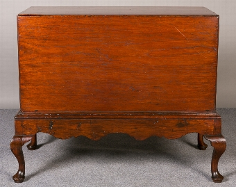 Antique Campaign Chest On Stand