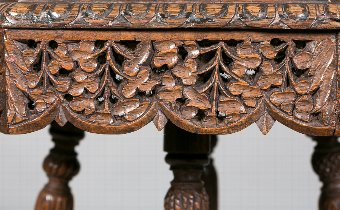 Antique Carved Eastern Occasional Table