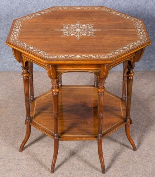 Fine Rosewood & Inlaid Centre Table