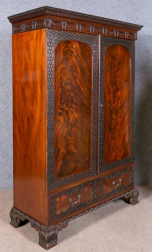 Antique Chippendale Style Wardrobe