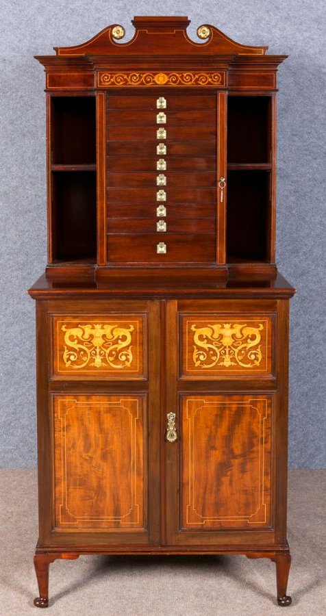 Superb Shapland and Petter Collectors Cabinet