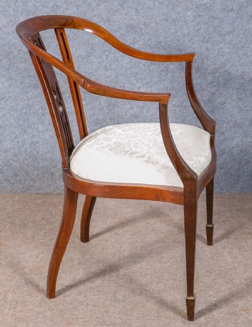 Antique Edwardian Inlaid Chair