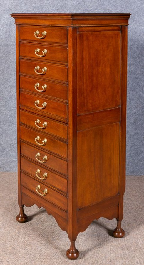 Antique Edwardian Folio Chest of Drawers