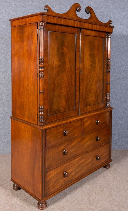 Regency Mahogany Linen Press
