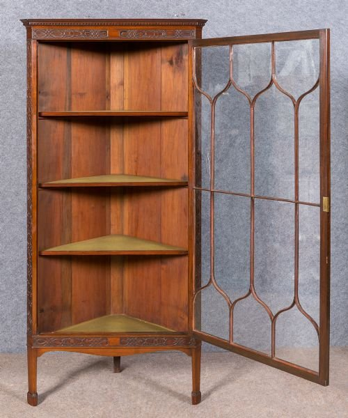 Antique Chippendale Style Corner Cabinet