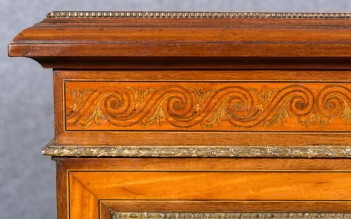 Antique Fine Satinwood Credenza Side Cabinet