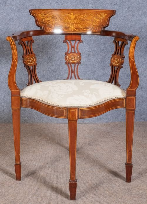 Good Inlaid Corner Chair