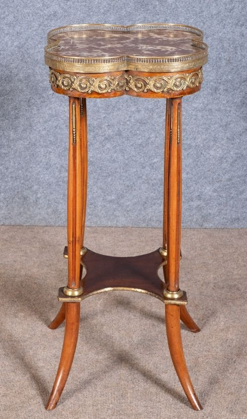 French Marble Topped Torchere / Stand