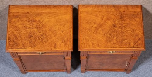 Antique Pair of Pollard Oak Bedside Cabinets