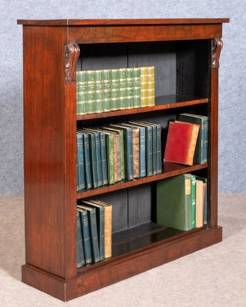 Antique Rosewood Open Bookcase