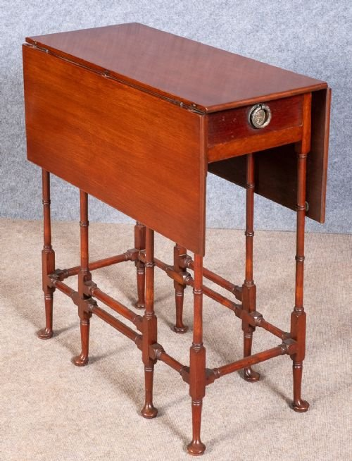 Antique Mahogany Drop Leaf Spider Table