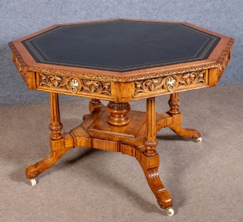 Good Oak  Library Drum Table