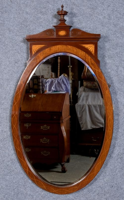 An Attractive Sheraton Revival Wall Mirror