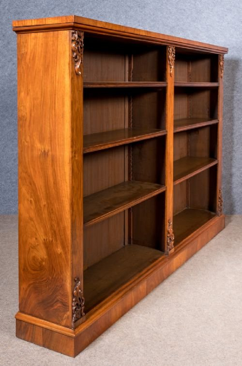 Good Figured Walnut Open Bookcase