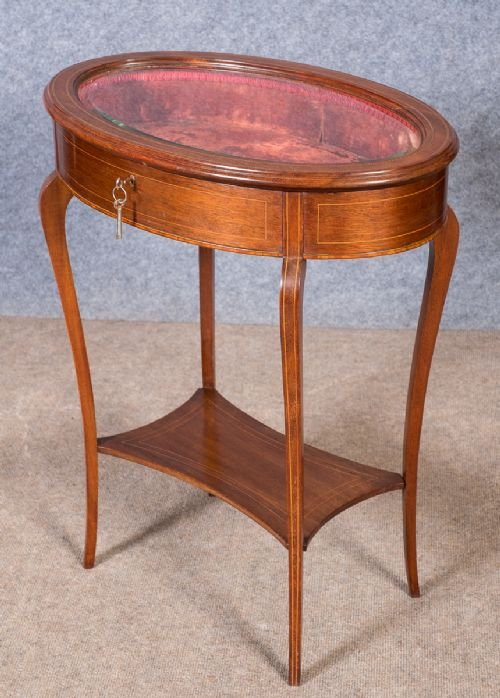 Edwardian Inlaid Bijouterie Display Table