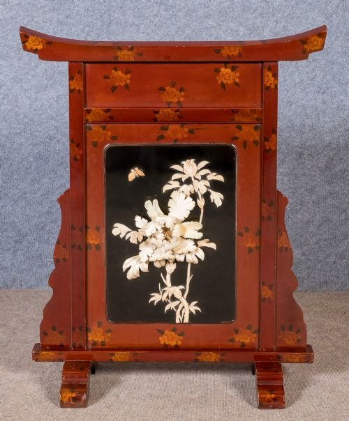 Shibayama Style Fire Screen