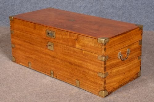 Antique Camphor Wood Campaign Trunk