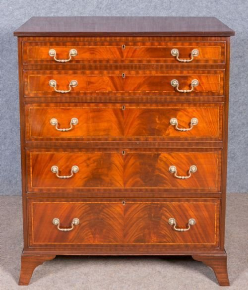 Antique Edwardian Inlaid Chest of Drawers