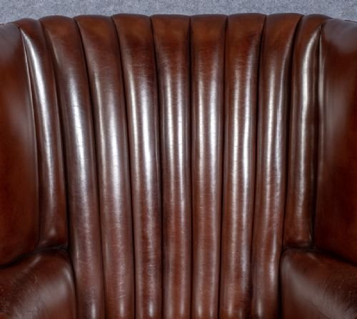 Antique Leather Hall Porters Chair