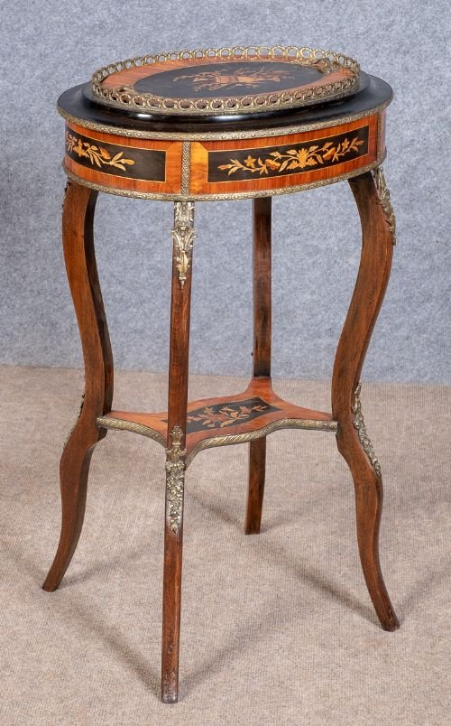 French Marquetry Planter Jardiniere