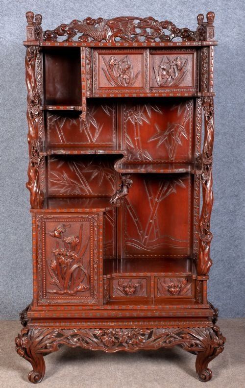 Meiji Period Shodana Display Cabinet