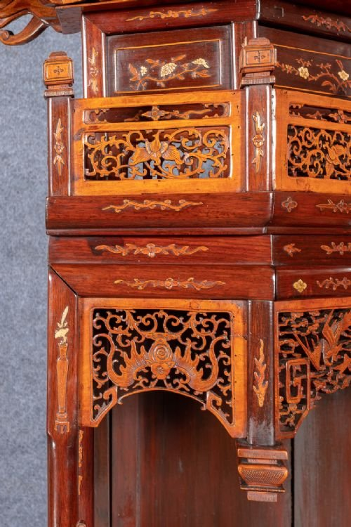 Antique Spectacular Chinese Display Cabinet