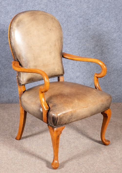 George I Style Leather Desk Chair