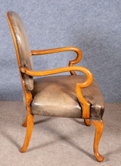 Antique George I Style Leather Desk Chair