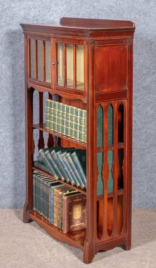 Antique Small Edwardian Bookcase