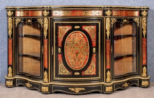 Fine 19th.Century Boulle Credenza Side Cabinet