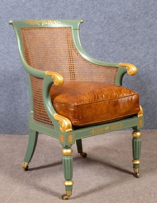 Regency Painted Bergere Chair