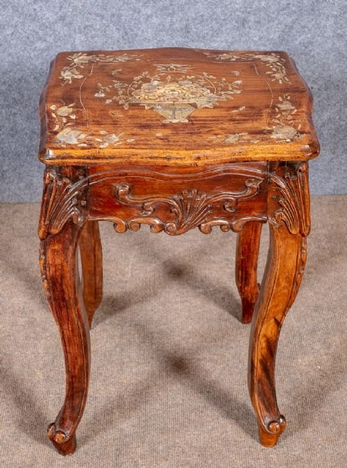 Antique Chinese Inlaid Hardwood Suite