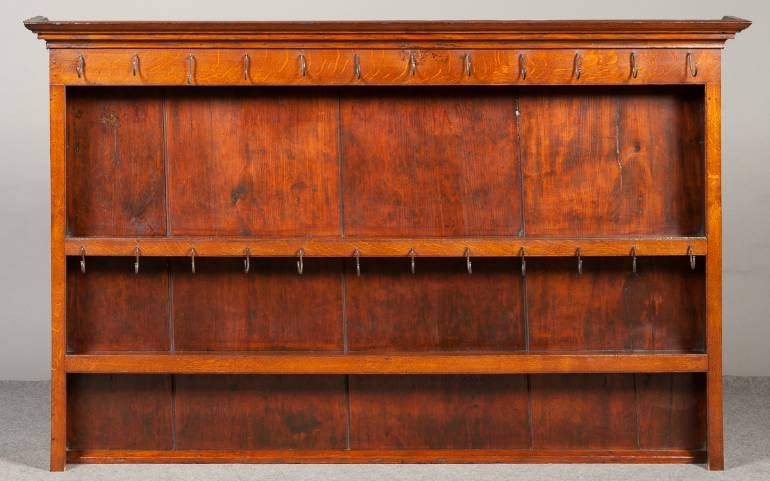 Oak dresser rack late 18th century