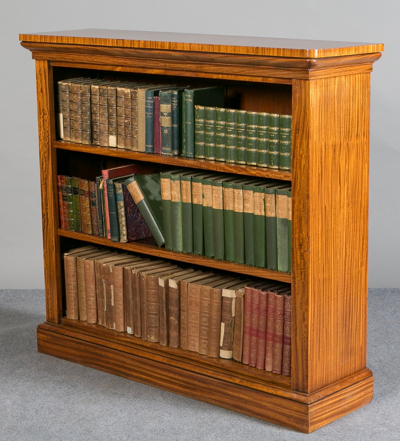 Satinwood Open Bookcase