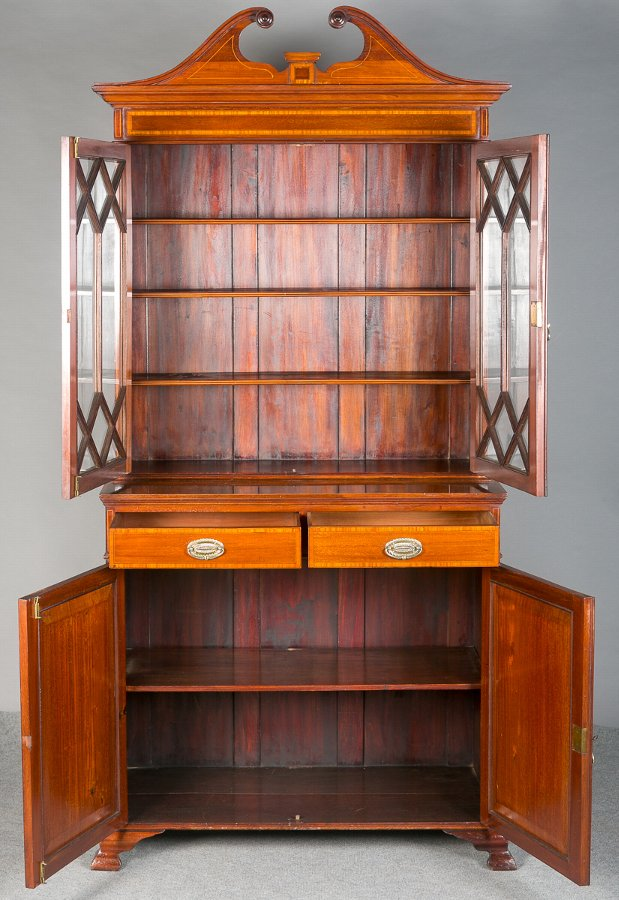 Antique Sheraton Revival Bookcase