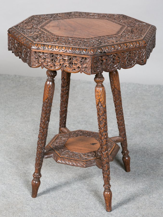 Carved Eastern Occasional Table