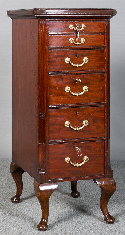 Edwardian Mahogany Collectors Chest