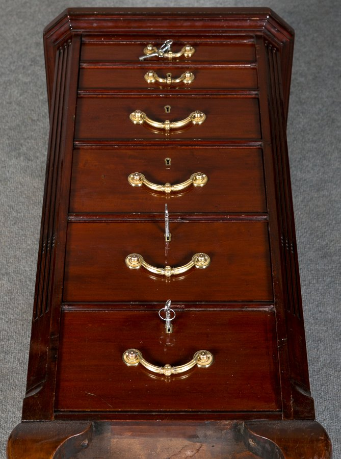 Antique Edwardian Mahogany Collectors Chest