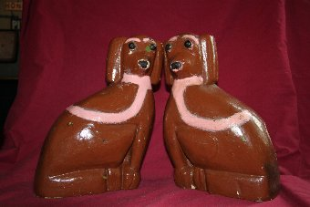 Antique Pair of Folk art dogs