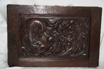 Antique 16thc Carved oak panels