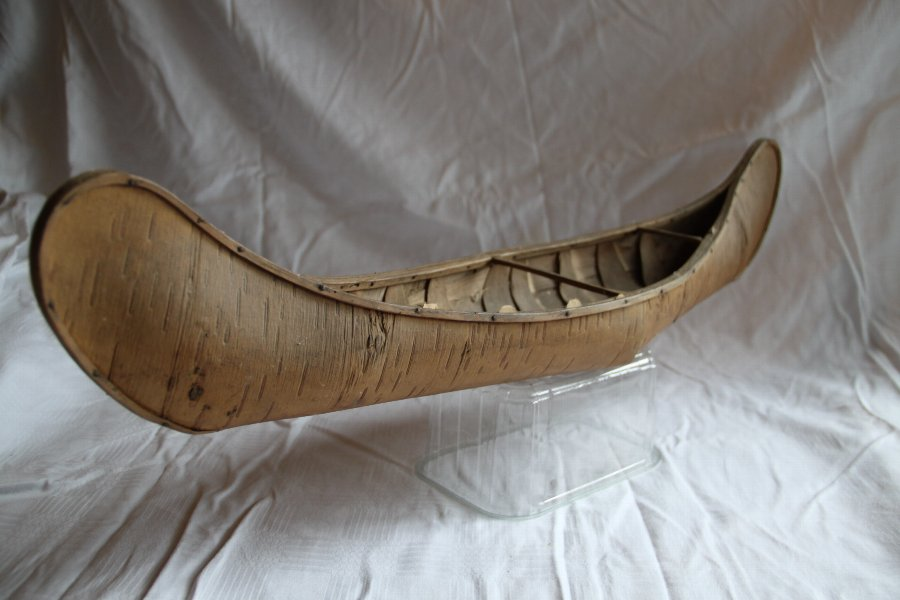 Antique Birch bark Indian canoe